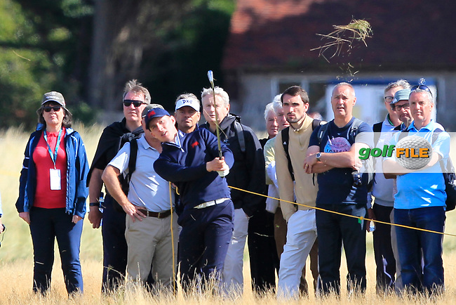 Euan Walker (GB&I) on the 17th during Day 2 Foursomes of the Walker Cup, Royal Liverpool Golf CLub, Hoylake, Cheshire, England. 08/09/2019.<br /> Picture Thos Caffrey / Golffile.ie<br /> <br /> All photo usage must carry mandatory copyright credit (© Golffile | Thos Caffrey)