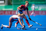 Krefeld, Germany, May 18: During the Final4 semi-final fieldhockey match between UHC Hamburg and Club an der Alster on May 18, 2019 at Gerd-Wellen Hockeyanlage in Krefeld, Germany. (worldsportpics Copyright Dirk Markgraf) *** Nicola Evans #25 of UHC Hamburg