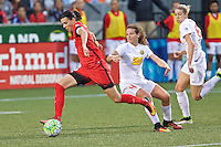 Portland, Oregon - Sunday September 11, 2016: Portland Thorns FC forward Christine Sinclair (12) scores a goal during a regular season National Women's Soccer League (NWSL) match at Providence Park.