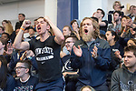 UNIVERSITY PARK, PA - MARCH 25: Penn State University fans react after Andrew Mackiewicz of Penn State University wins a point against Eli Dershwitz of Harvard University during the semifinals of the  saber competition during the Division I Men's Fencing Championship held at the Multi-Sport Facility on the Penn State University campus on March 25, 2018 in University Park, Pennsylvania. (Photo by Doug Stroud/NCAA Photos via Getty Images)