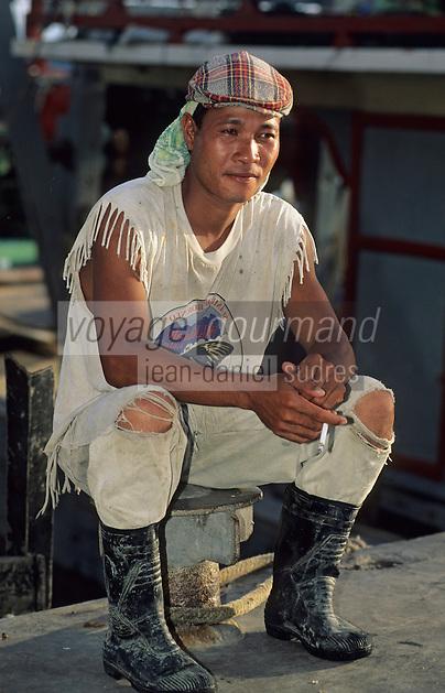 Asie/Malaisie/Bornéo/Sabah/Kota Kinabalu: Marin sur le port