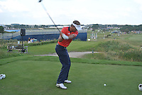 Joost Luiten (NED) on the 10th tee during Round 2 of the KLM Open at Kennemer Golf &amp; Country Club on Friday 12th September 2014.<br /> Picture:  Thos Caffrey / www.golffile.ie