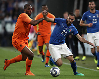 International friendly football match Italy vs The Netherlands, Allianz Stadium, Turin, Italy, June 4, 2018. <br /> Italy's Davide Zappacosta (r) in action with Netherlands' Ryan Babel (l) during the international friendly football match between Italy and The Netherlands at the Allianz Stadium in Turin on June 4, 2018.<br /> UPDATE IMAGES PRESS/Isabella Bonotto