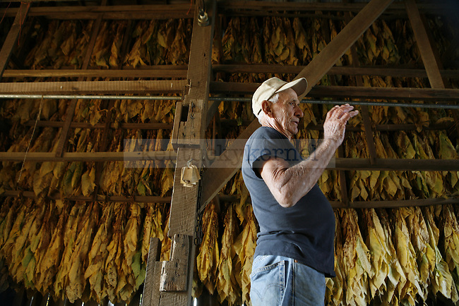Giles Shell, 24, and G.B., 83, are part of a history of Shell tobacco farmers, which began in five generations ago. With Giles being the fifth generation of Shell tobacco farmers, the crop will continue to provide a source of income for himself and his family.