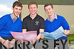 HAPPY FACES: Sam Moriarty (Inch),Eoghan O'Neill (Beaufort) and Patrick O'Shea (Inch) delighted with the first paper of the Leaving Cert at Miltown Presentation Secondary School, on Wednesday