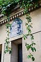 Paris, France. 09.05.2015. Place du Tertre street sign, Montmartre, Paris, France. Photograph © Jane Hobson.