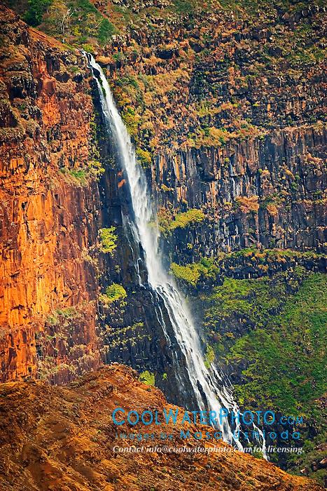 Waipo`o or Waipoo Falls, Waimea Canyon, Kauai, Hawaii