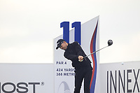 Nathan Holman (AUS) on the 11th tee during Round 2 of the D+D Real Czech Masters at the Albatross Golf Resort, Prague, Czech Rep. 02/09/2017<br /> Picture: Golffile | Thos Caffrey<br /> <br /> <br /> All photo usage must carry mandatory copyright credit     (&copy; Golffile | Thos Caffrey)