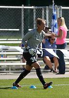 Kansas City, MO - Saturday July 16, 2016: DiDi Haracic prior to a regular season National Women's Soccer League (NWSL) match between FC Kansas City and the Washington Spirit at Swope Soccer Village.