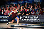 14 APR 2012: Maria Paula Vilas (05) of the University of Maryland Eastern Shore bowls during the Division I Womens Bowling Championship held at Freeway Lanes in Wickliffe, OH.  The University of Maryland Eastern Shore defeated Fairleigh Dickinson 4-2 to win the national title.  Jason Miller/NCAA Photos