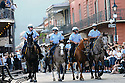 NOPD mounted police for Archbishop Hannan's funeral, 2011