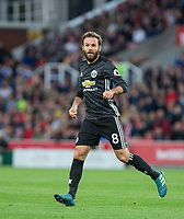 Juan Mata of Man Utd during the Premier League match between Stoke City and Manchester United at the Britannia Stadium, Stoke-on-Trent, England on 9 September 2017. Photo by Andy Rowland.