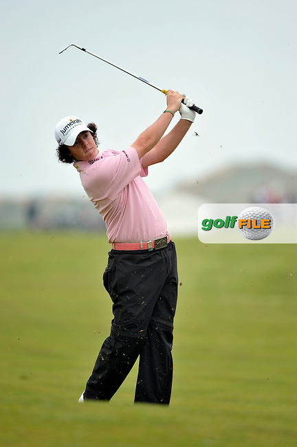 Rory McIlroy plays his 2nd shot from the fairway on the 10th hole during Round 2 of the 3 Irish Open on 15th May 2009 (Photo by Eoin Clarke/GOLFFILE)
