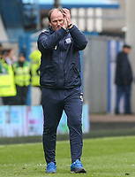 Preston North End manager Simon Grayson applauds the fans after the final whistle<br /> <br /> Photographer Alex Dodd/CameraSport<br /> <br /> The EFL Sky Bet Championship - Huddersfield Town v Preston North End - Friday 14th April 2016 - The John Smith's Stadium - Huddersfield<br /> <br /> World Copyright &copy; 2017 CameraSport. All rights reserved. 43 Linden Ave. Countesthorpe. Leicester. England. LE8 5PG - Tel: +44 (0) 116 277 4147 - admin@camerasport.com - www.camerasport.com