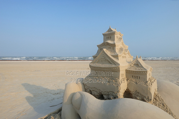 Sandfest, Sand Sculpture Festival, Port Aransas, Texas, USA