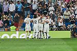 Real Madrid's players celebrate goal during La Liga match. September 01, 2018. (ALTERPHOTOS/A. Perez Meca)