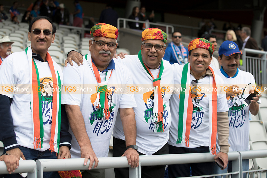 Indian fans at Edgbaston hoping for a big win during India vs New Zealand, ICC World Cup Semi-Final Cricket at Old Trafford on 9th July 2019