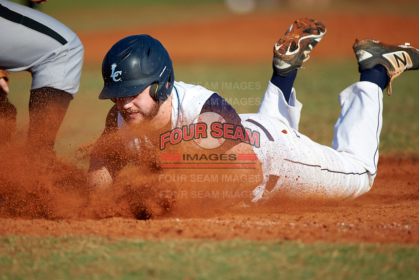 Lasell Lasers Skylar Beckerman (23) during the first game of a doubleheader against the Edgewood Eagles on March 14, 2016 at Terry Park in Fort Myers, Florida.  Edgewood defeated Lasell 9-7.  (Mike Janes/Four Seam Images)