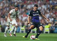 Marcelo Carrillo of Cd Leganes scoring a goal during the match between Real Madrid v Cd Leganes of LaLiga, 2018-2019 season, date 3. Santiago Bernabeu Stadium. Madrid, Spain - 1 September 2018. Mandatory credit: Ana Marcos / PRESSINPHOTO