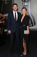 29 November 2018 - Las Vegas, NV - Denny Hamlin, Jordan Fish. 2018 Monster Energy NASCAR Awards Red Carpet at Wynn Las Vegas.     <br /> CAP/ADM/MJT<br /> &copy; MJT/ADM/Capital Pictures