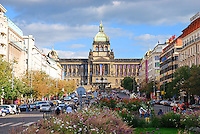 National museum on Vaclav (Wenceslas) Square in Prague, Czech Republic.