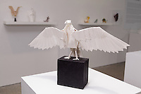 """Surface to Structure origami exhibition at Cooper Union, New York. Gallery view. Turkey Vulture """"Richard"""" designed and folded by Robert Lang 2011."""