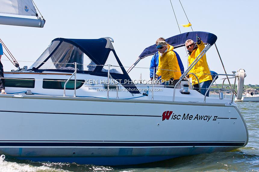 Wisc-Me-Away, a Jenneau 40, racing at Texoma Sailing Club Lakefest Regatta 2011, 25th annual charity regatta at Lake Texoma, Denison, Texas.