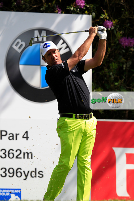 Scott Hend (AUS) on the 7th during  round 1 of the 2016 BMW PGA Championship. Wentworth Golf Club, Virginia Water, Surrey, UK. 26/05/2016.<br /> Picture Fran Caffrey / Golffile.ie