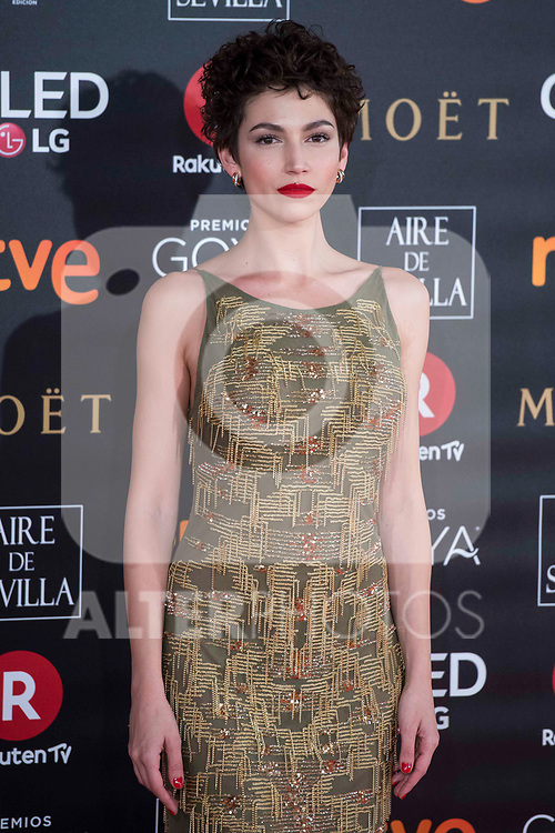 Ursula Corbero attends red carpet of Goya Cinema Awards 2018 at Madrid Marriott Auditorium in Madrid , Spain. February 03, 2018. (ALTERPHOTOS/Borja B.Hojas)