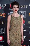 Ursula Corbero attends red carpet of Goya Cinema Awards 2018 at Madrid Marriott Auditorium in Madrid , Spain. February 03, 2018. (ALTERPHOTOS/Borja B.Hojas)