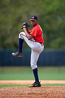 Atlanta Braves pitcher Zack Bird (92) during an intrasquad Spring Training game on March 25, 2016 at ESPN Wide World of Sports Complex in Orlando, Florida.  (Mike Janes/Four Seam Images)