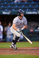 Northwest Arkansas Naturals center fielder Bubba Starling (6) at bat during a game against the Springfield Cardinals on April 26, 2016 at Hammons Field in Springfield, Missouri.  Northwest Arkansas defeated Springfield 5-2.  (Mike Janes/Four Seam Images)