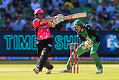 10th February 2019, Melbourne Cricket Ground, Melbourne, Australia; Australian Big Bash Cricket, Melbourne Stars versus Sydney Sixers; Stephen O'Keefe of the Sydney Sixers pulls the ball towards the boundary