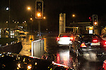 Stuck in the flood on the Donore Road at the Bus Station..Picture Fran Caffrey www.newsfile.ie