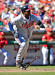 16 September 2007: Atlanta Braves shortstop Edgar Renteria in action against the Washington Nationals at Robert F. Kennedy Memorial Stadium in Washington, DC. The Braves shut out the Nationals 3-0 to take the third game of their 3-game series.. .Mandatory Photo Credit: Ed Wolfstein Photo