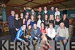 BON VOYAGE: Joanne O'Hanlon who had a Bon Voyage party,in the White Sands Hotel, Ballyheigue,on Friday night, with her family and friends as she leaves for Australia on Monday 21st Jan 2013 .Front l-r: Kevin O'Connell, Fiona Reilly, Mike Mulrennan, Joanne, Kathleen and Noel O'Hanlon. Centre l-r: John and Eileen O'Reilly, Una O'Halloran, Triona Casey, John Mike Harrington, Louise Corridon, Jennifer Cashman,Michelle James, Claire O'Halloran and Aileen O'Mahony. Back l-r: Eoin Dunne, Rickie Keane, Kevin Allen, Pa Lawlor and Gillian Fitzgerald.