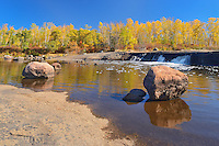 Rainbow Falls in autumn<br /> Whiteshell Provincial Park<br /> Manitoba<br /> Canada