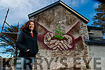 Ciara McKenna who painted a mural on her house outside Dingle