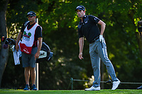 Webb Simpson (USA) watches his tee shot on 12 during round 2 of the Fort Worth Invitational, The Colonial, at Fort Worth, Texas, USA. 5/25/2018.<br /> Picture: Golffile | Ken Murray<br /> <br /> All photo usage must carry mandatory copyright credit (&copy; Golffile | Ken Murray)