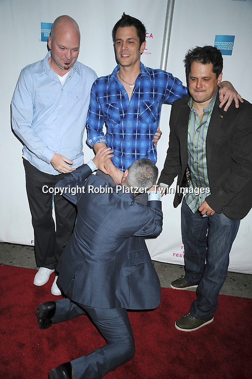 """cast of """"The Wild and Wonderful Whites of West Virginia"""", Storm Taylor, Johnny Knoxville, director Julien Nitzberg and the producer"""