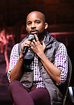 """Antuan Magic Raimone from the 'Hamilton' cast during the Q&A before The Rockefeller Foundation and The Gilder Lehrman Institute of American History sponsored High School student #EduHam matinee performance of """"Hamilton"""" at the Richard Rodgers Theatre on June 7, 2017 in New York City."""