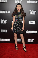 HOLLYWOOD, CA - OCTOBER 23: Christian Serratos at AMC Presents Live, 90-Minute Special Edition of 'Talking Dead' at Hollywood Forever on October 23, 2016 in Hollywood, California. Credit: David Edwards/MediaPunch
