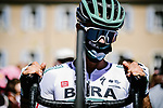 Daniel Oss (ITA) Bora-Hansgrohe at sign on before the start of Stage 4 of Tour de France 2020, running 160.5km from Sisteron to Orcieres-Merlette, France. 1st September 2020.<br /> Picture: ASO/Pauline Ballet | Cyclefile<br /> All photos usage must carry mandatory copyright credit (© Cyclefile | ASO/Pauline Ballet)