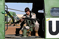 MALI, Gao, Minusma UN mission, Camp Castor, Helicopter unit Romanian Pumas for paramedic rescue flights, Helicopter IAR-330 Puma L-RM