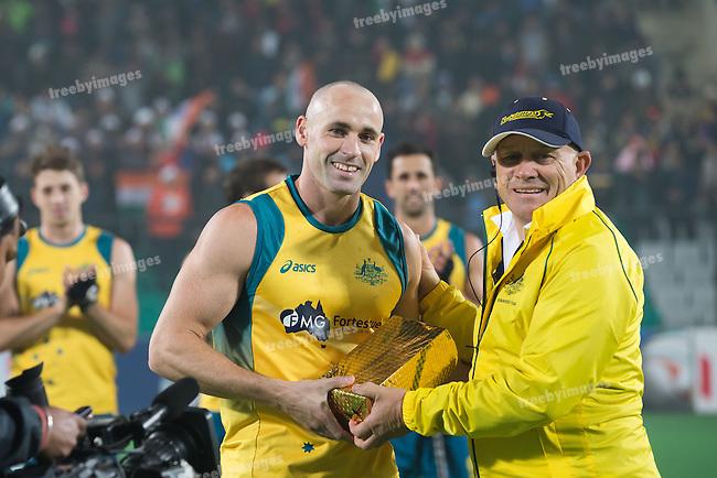 Mens Hockey World league Final Delhi 2014<br /> Day 4, 15-01-2014<br /> Australia v India<br /> <br /> Photo: Grant Treeby / treebyimages