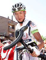 Cheng Ji before the stage of La Vuelta 2012 between La Robla and Lagos de Covadonga.September 2,2012. (ALTERPHOTOS/Acero) /NortePhoto.com<br /> <br /> **CREDITO*OBLIGATORIO** <br /> *No*Venta*A*Terceros*<br /> *No*Sale*So*third*<br /> *** No*Se*Permite*Hacer*Archivo**<br /> *No*Sale*So*third*