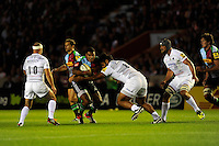 Kyle Sinckler of Harlequins in action during the Premiership Rugby Round 2 match between Harlequins and Saracens at The Twickenham Stoop on Friday 12th September 2014 (Photo by Rob Munro)