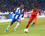 19.01.2020, OLympiastadion, Berlin, GER, DFL, 1.FBL, Hertha BSC VS. Bayern Muenchen, <br /> DFL  regulations prohibit any use of photographs as image sequences and/or quasi-video<br /> im Bild #h28, Alphonso Davies (FC Bayern Muenchen #19)<br /> <br />       <br /> Foto © nordphoto / Engler