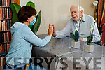 Caroline Delaney visiting her dad Barney Birmingham in Ocean view nursing home on Friday.