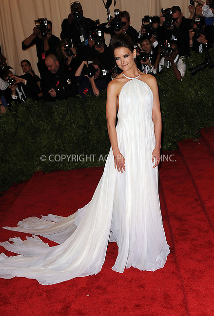 WWW.ACEPIXS.COM....May 6 2013, New York City....Katie Holmes arriving at the Costume Institute Gala for the 'PUNK: Chaos to Couture' exhibition at the Metropolitan Museum of Art on May 6, 2013 in New York City.....By Line: Kristin Callahan/ACE Pictures......ACE Pictures, Inc...tel: 646 769 0430..Email: info@acepixs.com..www.acepixs.com